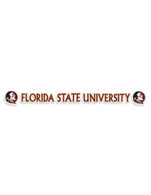 FSU Florida State University Car Sticker Barefoot Campus Outfitter