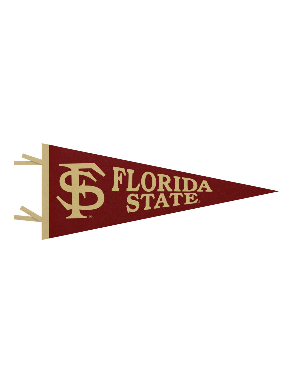 FSU Florida State felt pennant Barefoot Campus Outfitter