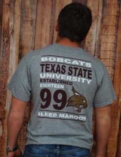 TX State Bleed Maroon Block - OXFORD-0