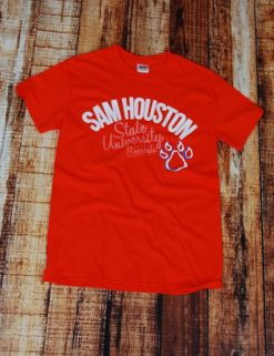 Sam Houston Bearkats Paw - ORANGE-0