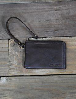 TXST Leather Wristlet - BRN-0