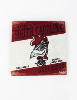 USC Gamecocks Slant Canvas Art-0