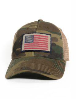 AMERICAN FLAG CAMO TRUCKER -0