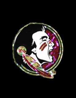 FSU Reflective Domed Decal-0
