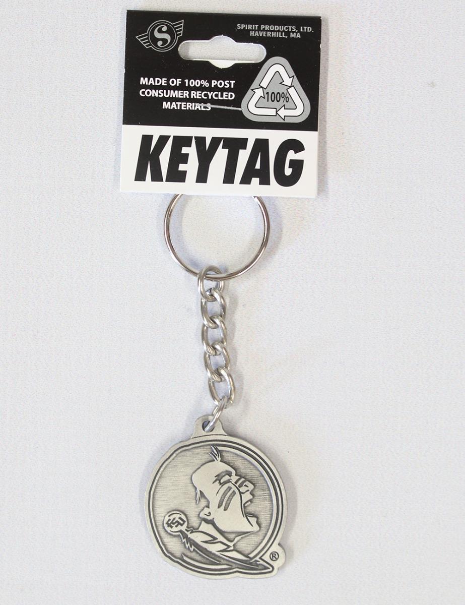 FSU Pewter Finish Key Tag-0