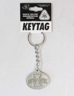 ISU Pewter Finish Key Tag-0
