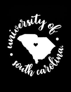 USC South Carolina Round Columbia Decal-0