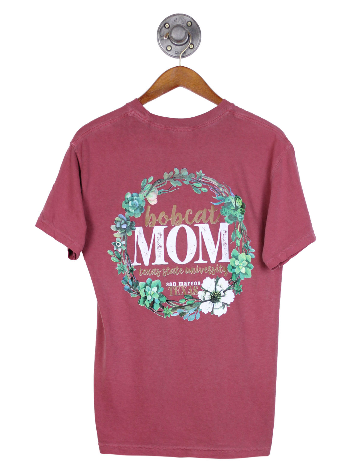 TXST Texas State floral Bobcat mom short sleeve Barefoot Campus Outfitter
