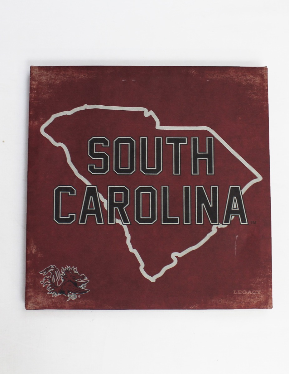 USC State Outline Canvas Art-0