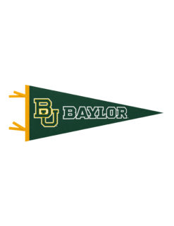 BU Baylor felt pennant Barefoot Campus Outfitter