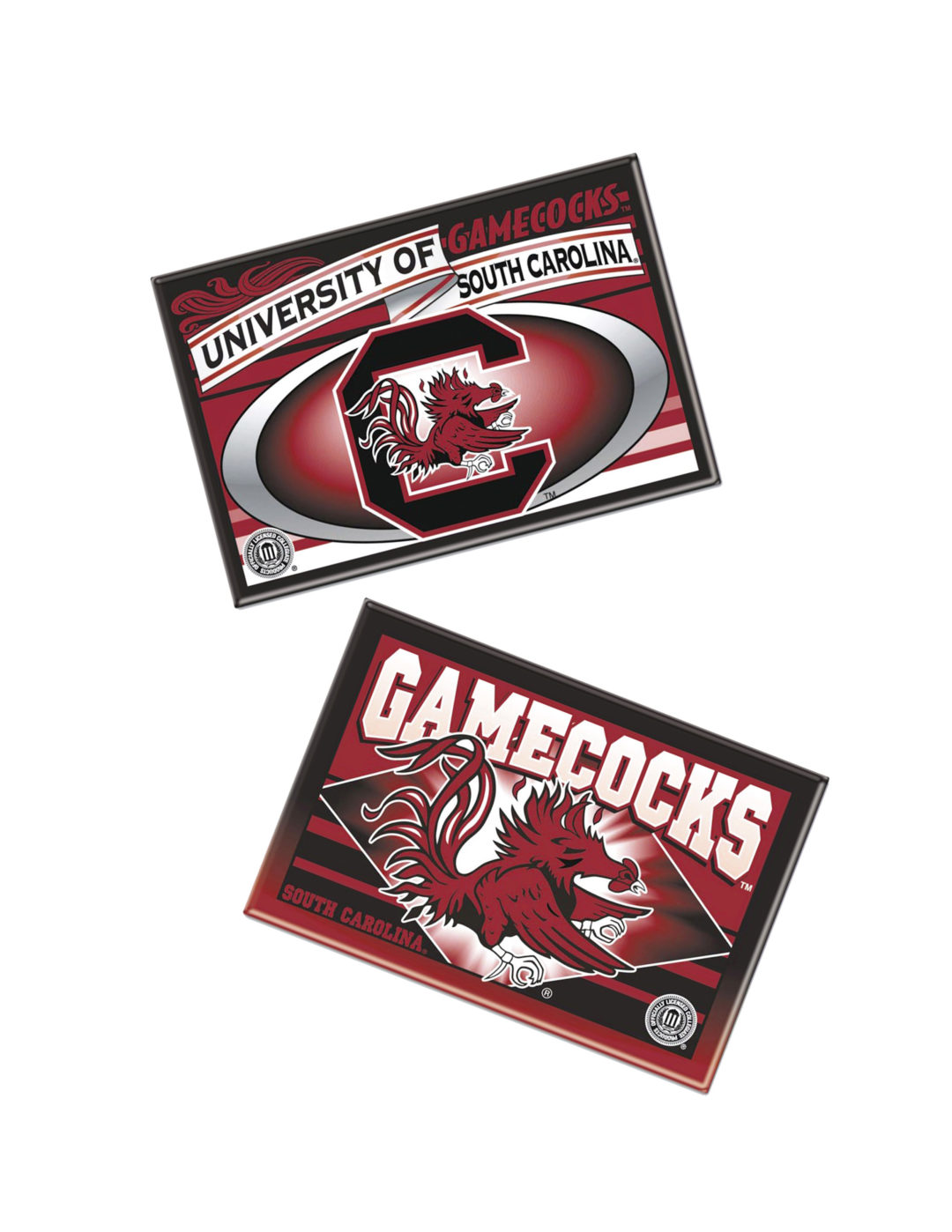 USC South Carolina Gamecocks metal magnet 2 pack Barefoot Campus Outfitter