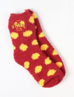 ISU Fuzzy Dot Socks-0