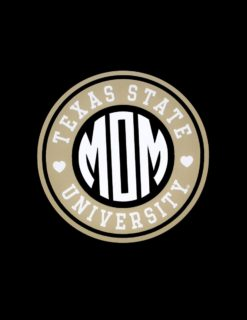 TXST Mom Circle of Love Decal-0