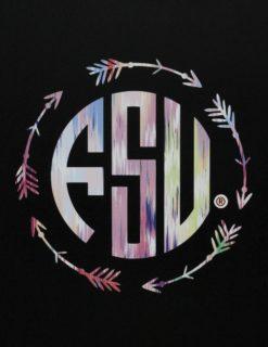 FSU Monogram Pattern Decal-0