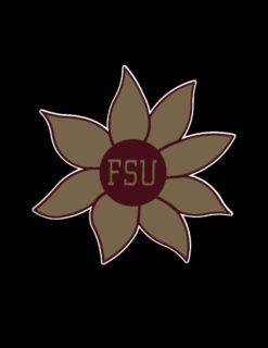 FSU Flower Decal 4x4-0