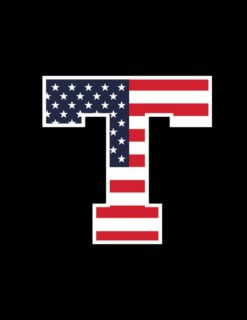 TSU Block T American Flag Decal-0