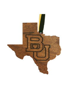 BU Wooden Ornament Barefoot Campus Outfitter