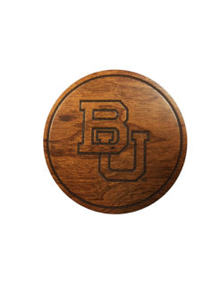 BU Wooden Coaster Barefoot Campus Outfitter