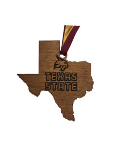 TXST Texas State wood ornament Barefoot Campus Outfitter