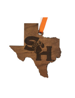 SHSU Sam Houston wood ornament Barefoot Campus Outfitter