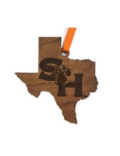 SHSU Sam Houston wood ornament Barefoot Campus Outfitter