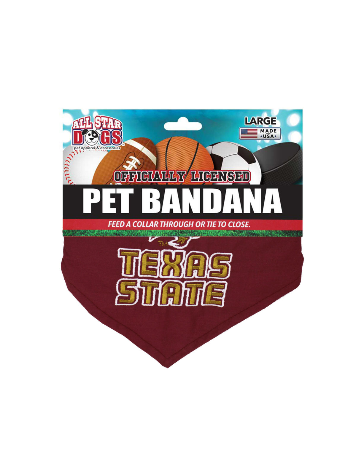 TXST Texas State dog bandana Barefoot Campus Outfitter