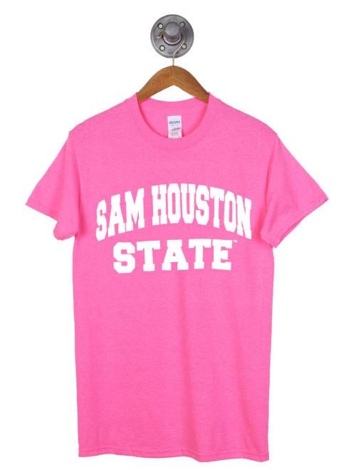 Sam Houston short sleeve pink out tshirt