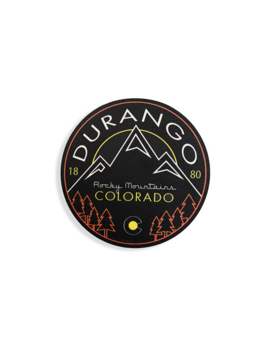 Blue 84 Durango Colorado sticker Barefoot Campus Outfitter