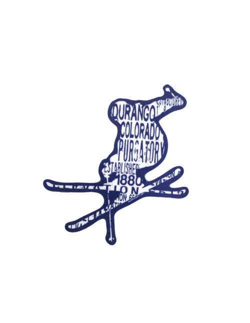 Blue 84 Purgatory Durango ski sticker Barefoot Campus Outfitter