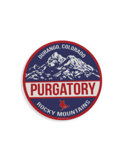 Blue 84 Purgatory Durango sticker Barefoot Campus Outfitter