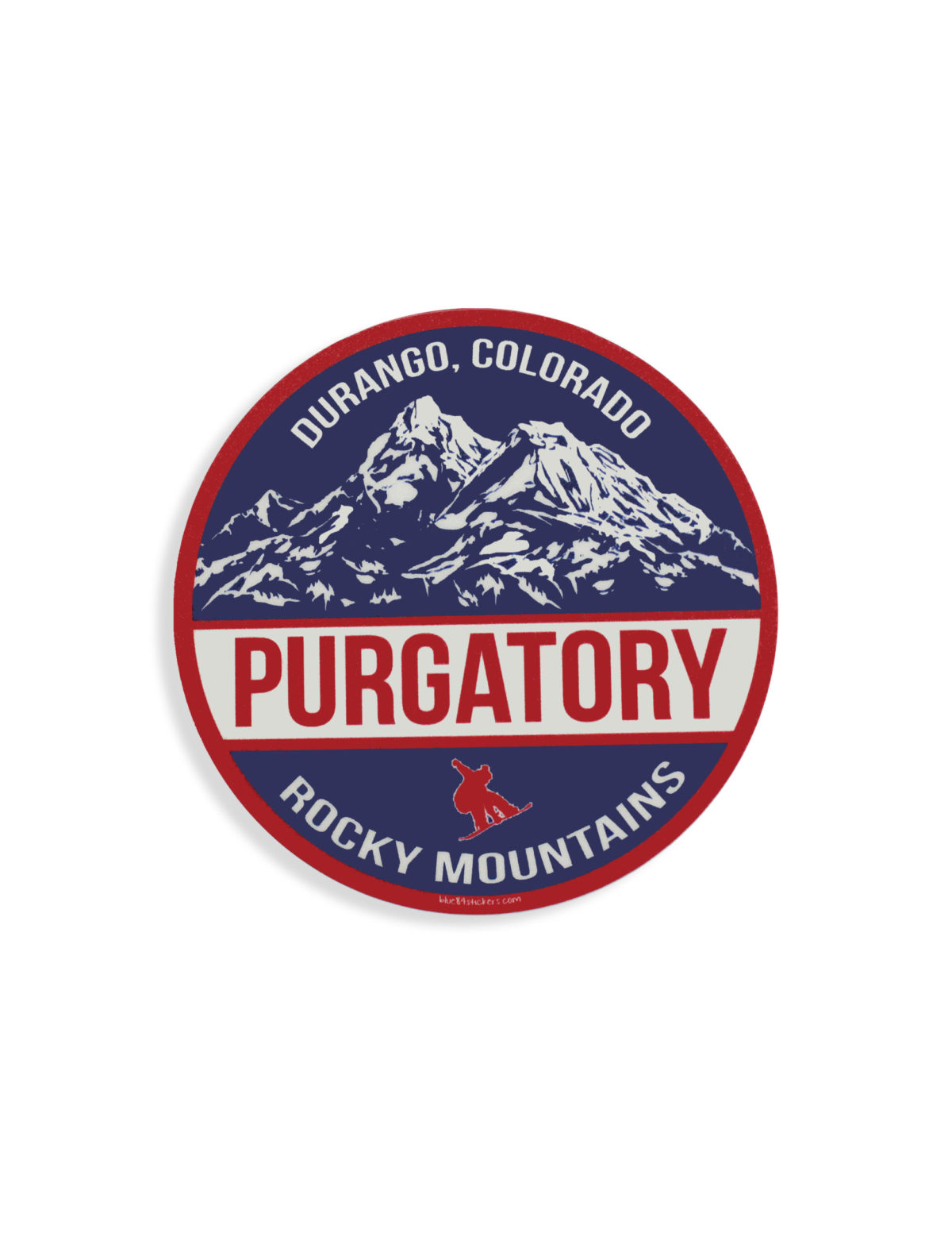 Blue 84 Purgatory Durango sticker Barefoot Campus Outfitter