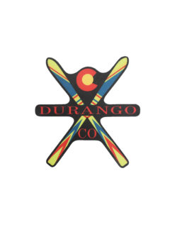 Blue 84 Durango ski sticker Barefoot Campus Outfitter
