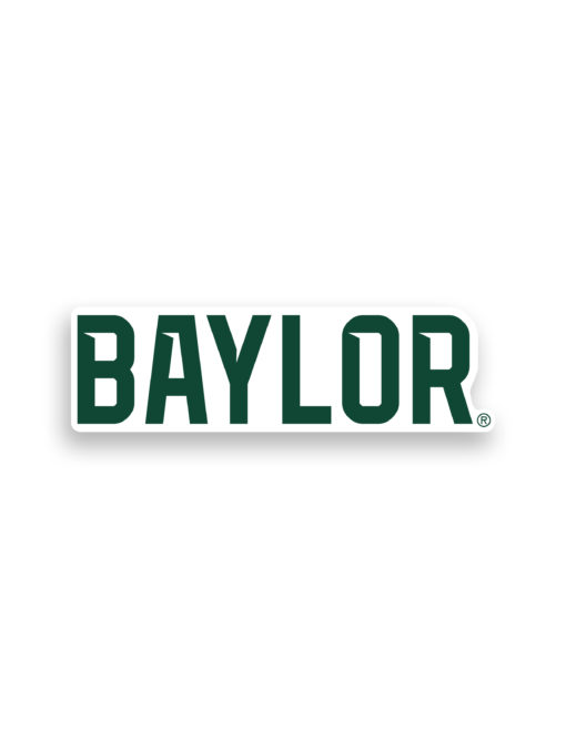 BU Baylor Car Sticker Decal Barefoot Campus Outfitter