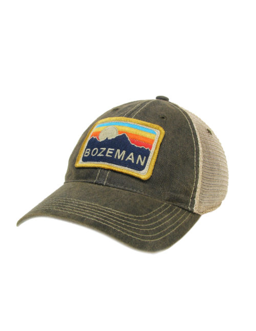 Bozeman Montana Adjustable Cap Barefoot Campus Outfitters