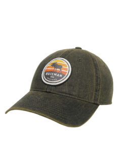 Bozeman Montana Adjustable Cap Barefoot Campus Outfitters